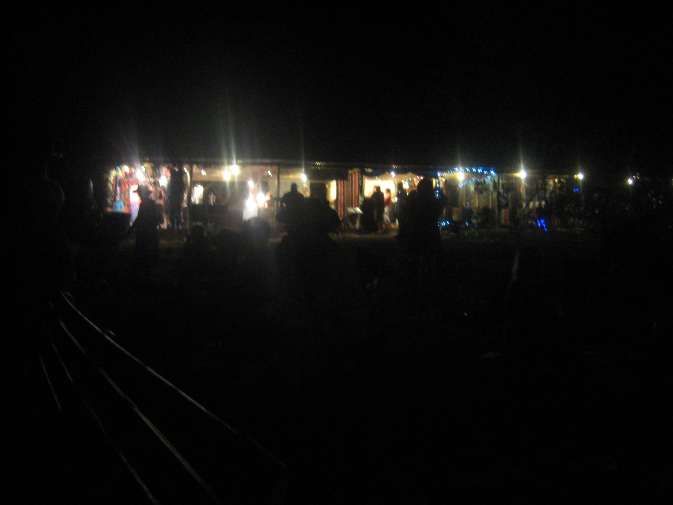 Main Stage Craft Booths at Night