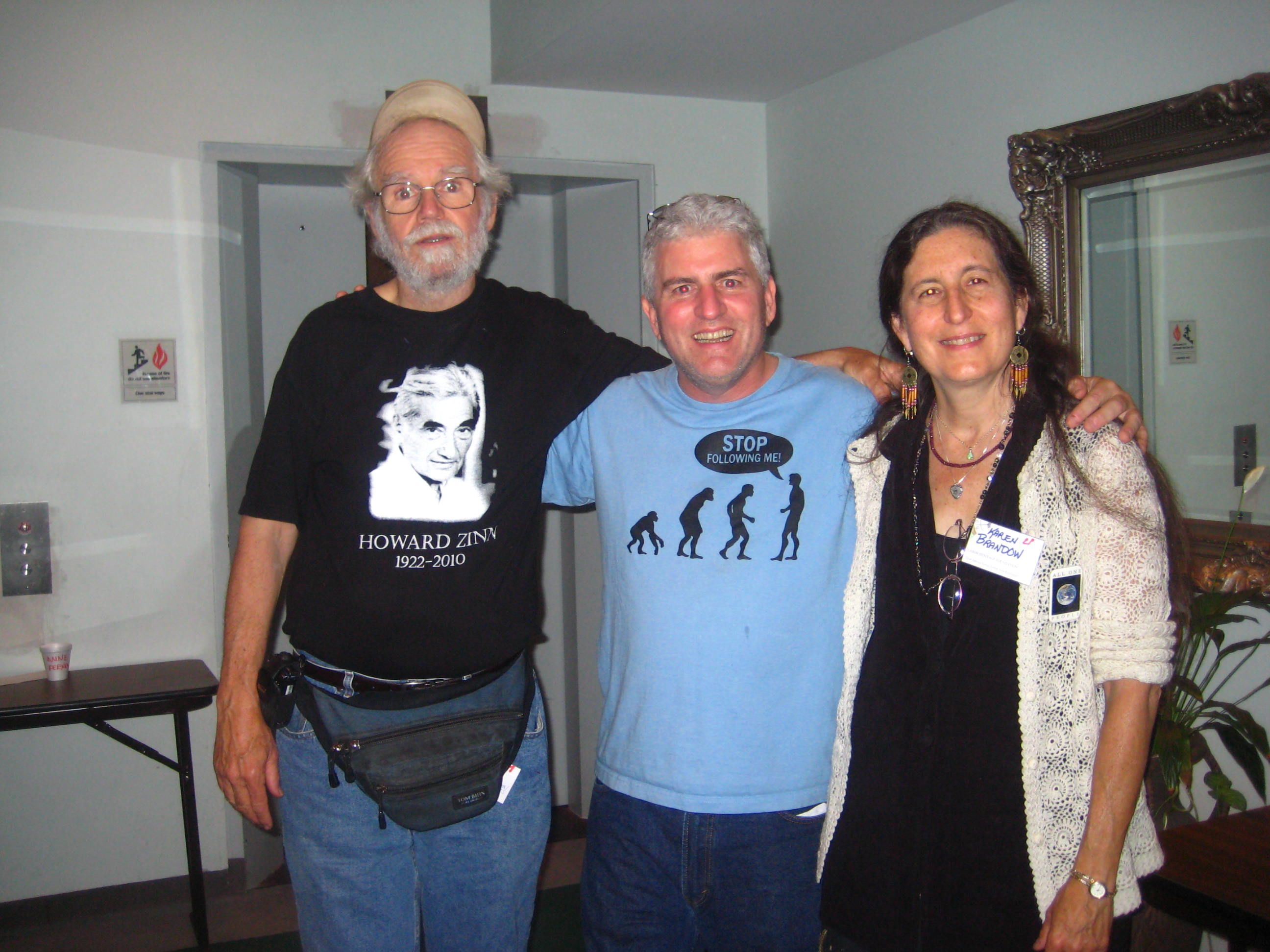 Charlie King, Steve Deasy and Karen Brandow at Great Labor Arts Exchange, Detroit, 2010